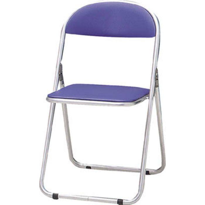 FC2000TS 折りたたみパイプ椅子 ウレタンレザーシート貼り 青