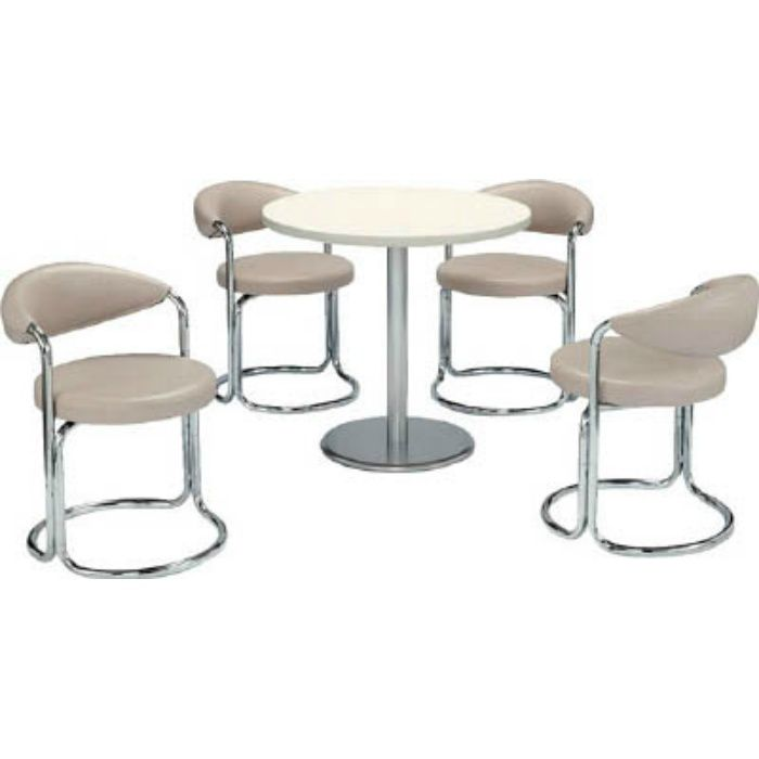 MK717 簡易応接セット用椅子(アイボリー)