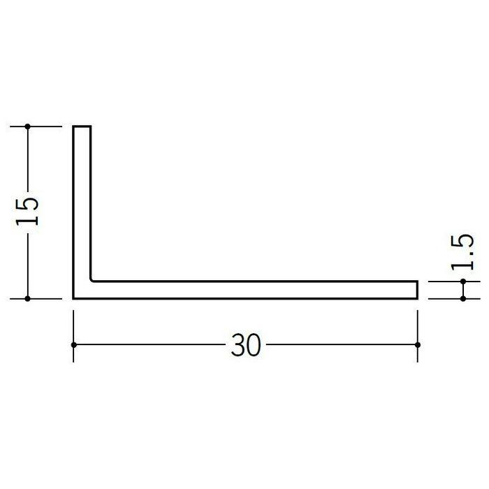 アングル 不等辺 ビニール アングル15×30 ホワイト 1.82m  36014