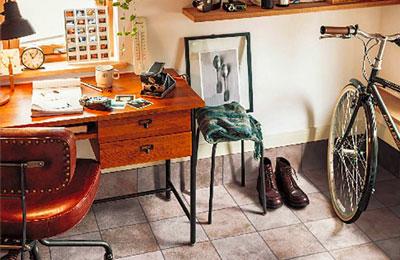 店舗・土足用クッションフロアー シンコール S2413 ポンリューム 土足・床暖対応 セラミックタイル