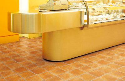 店舗・土足用クッションフロアー シンコール S2412 ポンリューム 土足・床暖対応 テラコッタ
